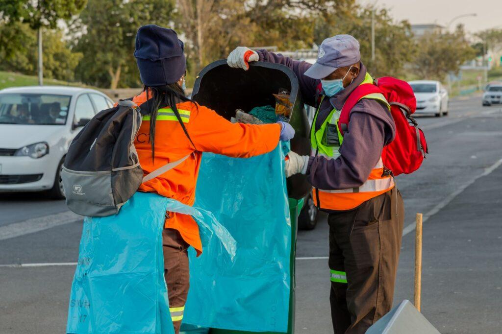 Waste Workers sorting trash